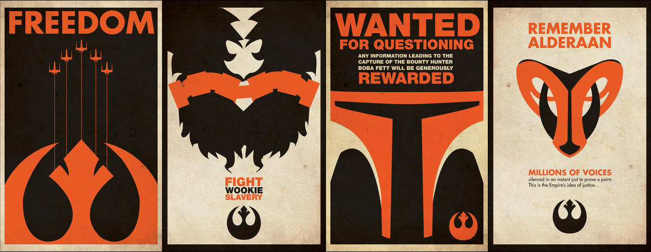 Rebel Propoganda Posters by captain-cavishaw