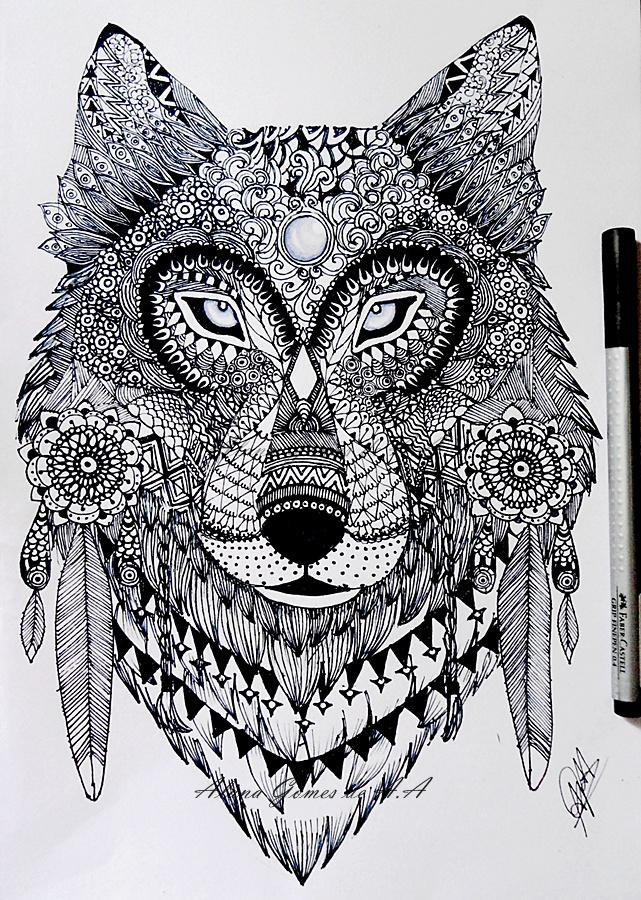 Zentangle Wolf By Itsalana On DeviantArt