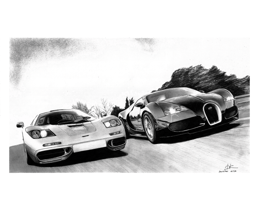 mclaren f1 vs bugatti veyron by david10072 on deviantart. Black Bedroom Furniture Sets. Home Design Ideas