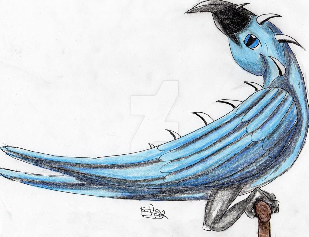 Dragon Bleu Animal perroquet-dragon bleuelisedupont on deviantart