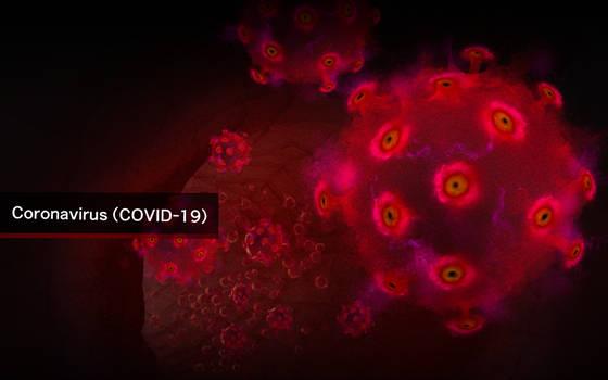 Covid-19 corona virus  / digital painting...