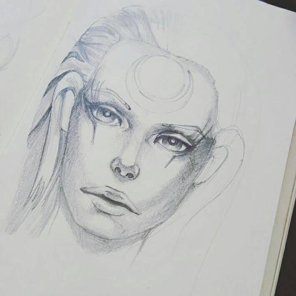 Diana Sketch progress  by reglosk