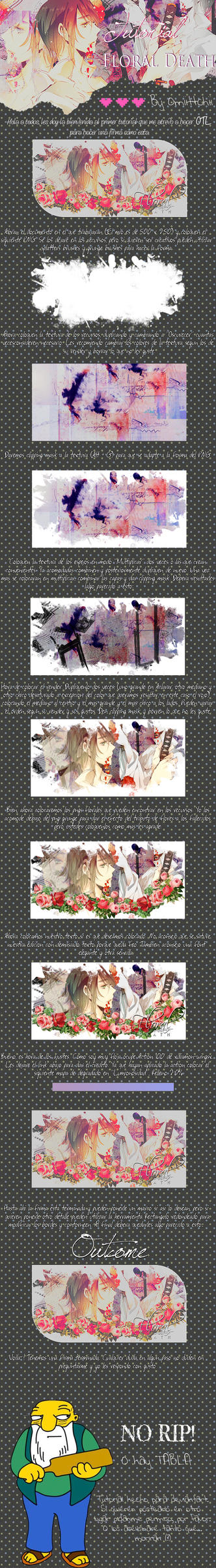 Tutorial - Floral Death by Omiittchii