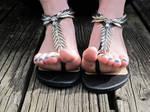 The underside of Vesper's toes