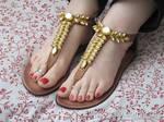 Sallie's perfect feet