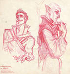 Solas and Dorian impression doodles
