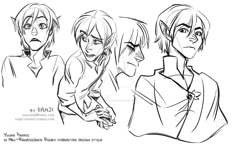 Neo Disney style young Fenris by DanjiDoodle on DeviantArt