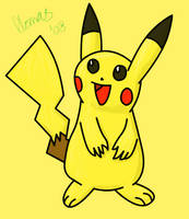 Pikachu Coloured by AceDetective