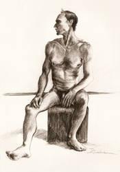 Seated Study #1 by Dkelabirath