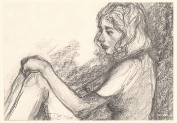 Melancholy (A6 paper sketchcard) by Dkelabirath