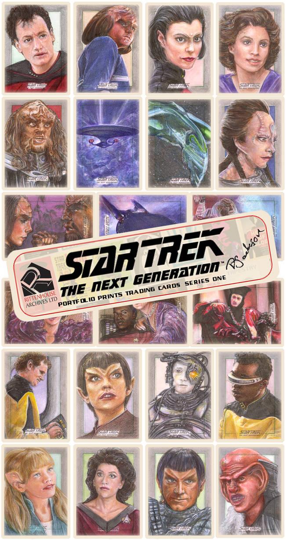 Star Trek: TNG official Rittenhouse sketch cards by Dkelabirath