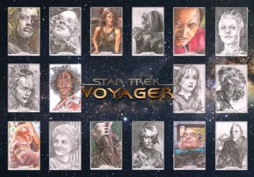 Star Trek: Voyager Rittenhouse sketch cards by Dkelabirath