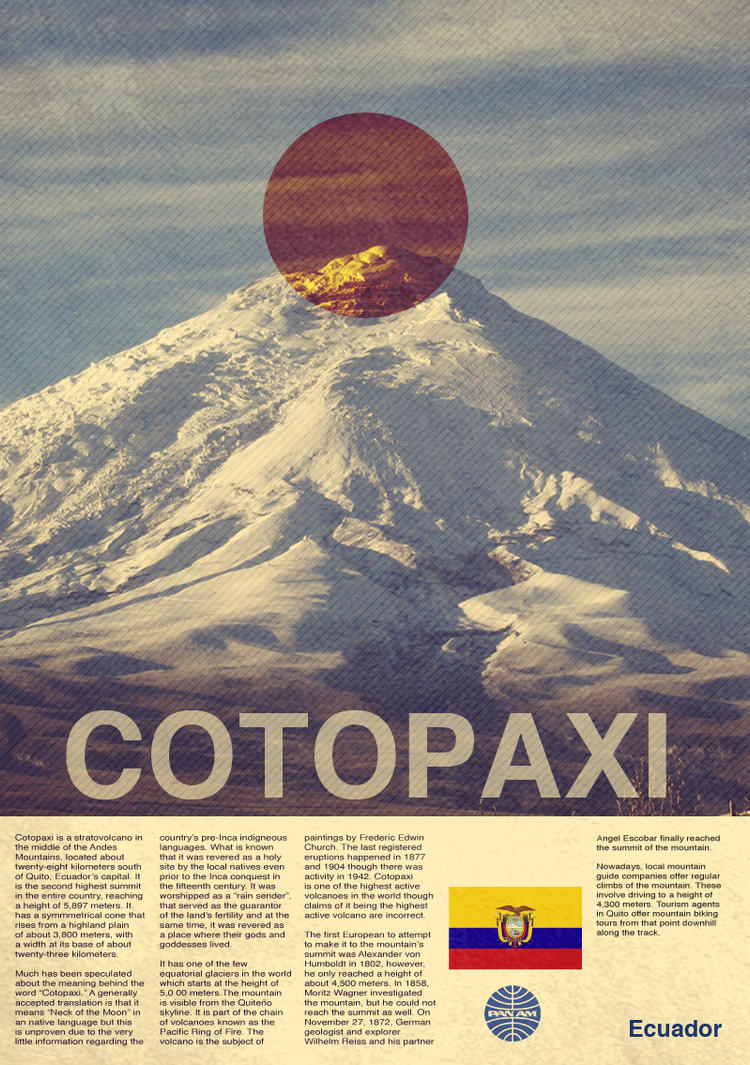 Cotopaxi Travel Poster  by CyberEagleWarrior
