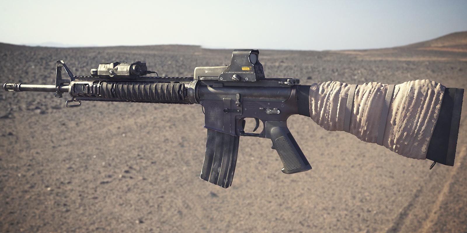 M16A4 Assault Rifle: Textured 1 by NordlingArt on DeviantArt