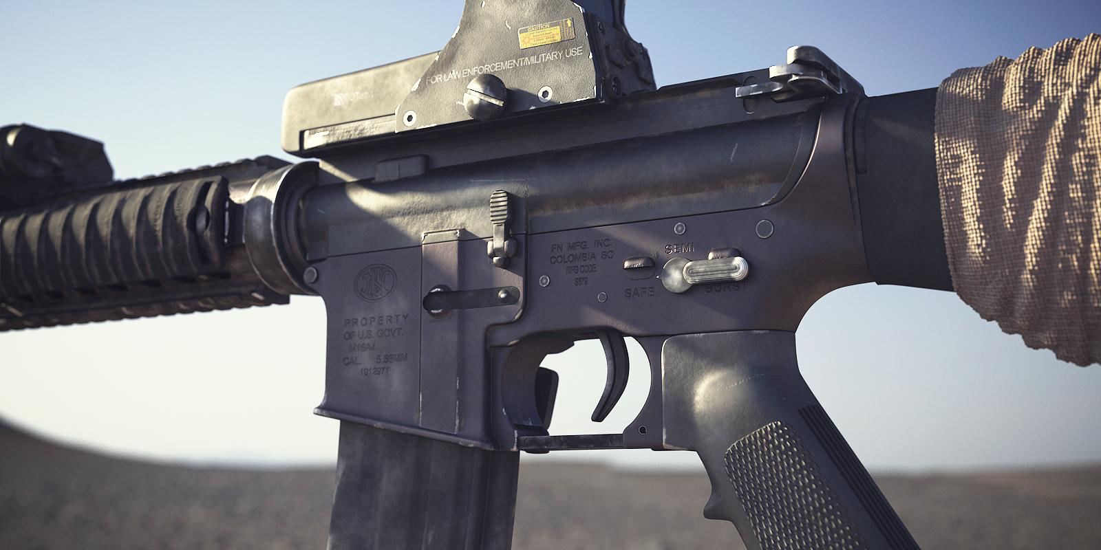 M16A4 Assault Rifle: Textured 5 by NordlingArt on DeviantArt