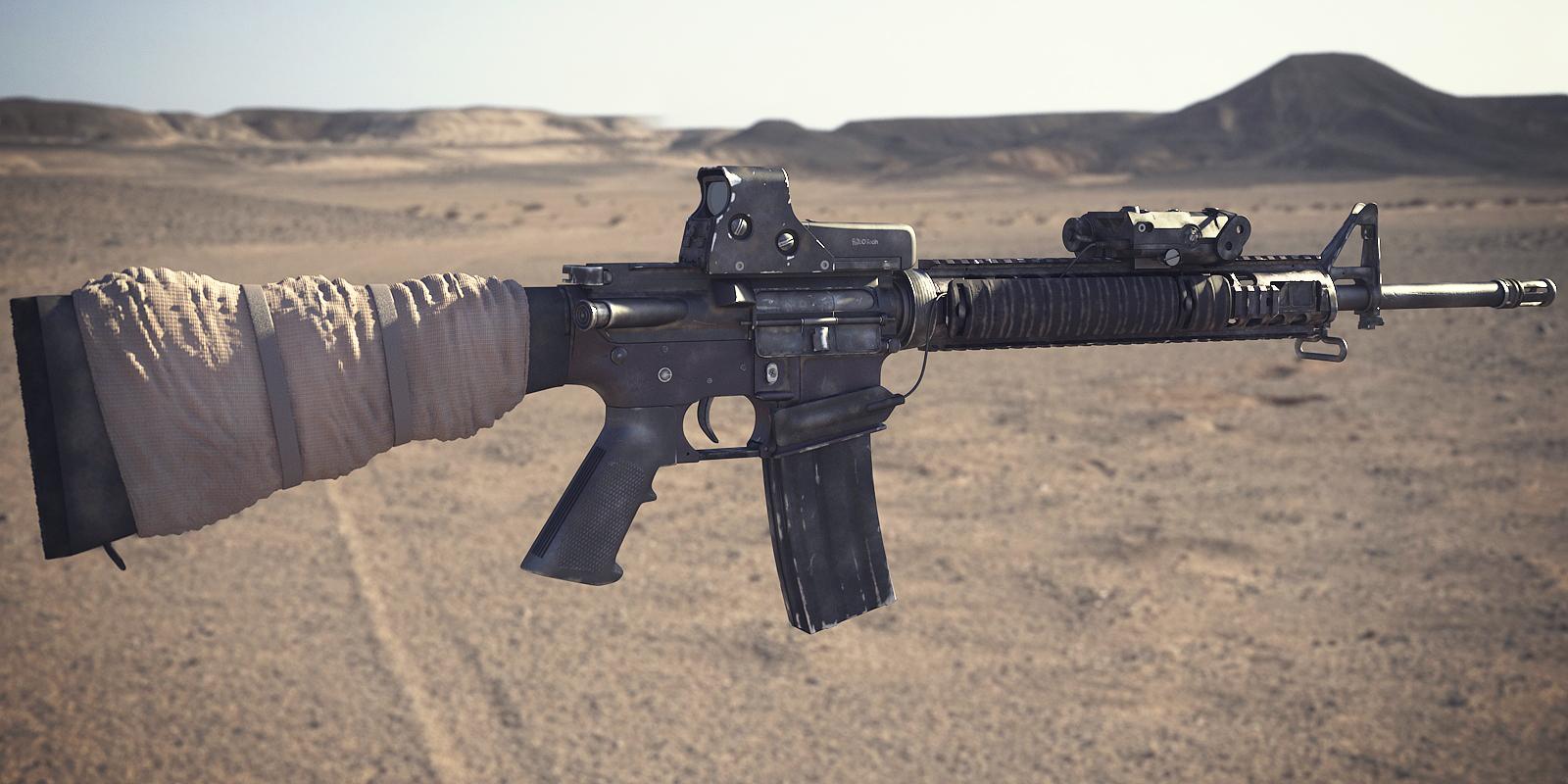 M16A4 Assault Rifle: Textured 2 by NordlingArt on DeviantArt