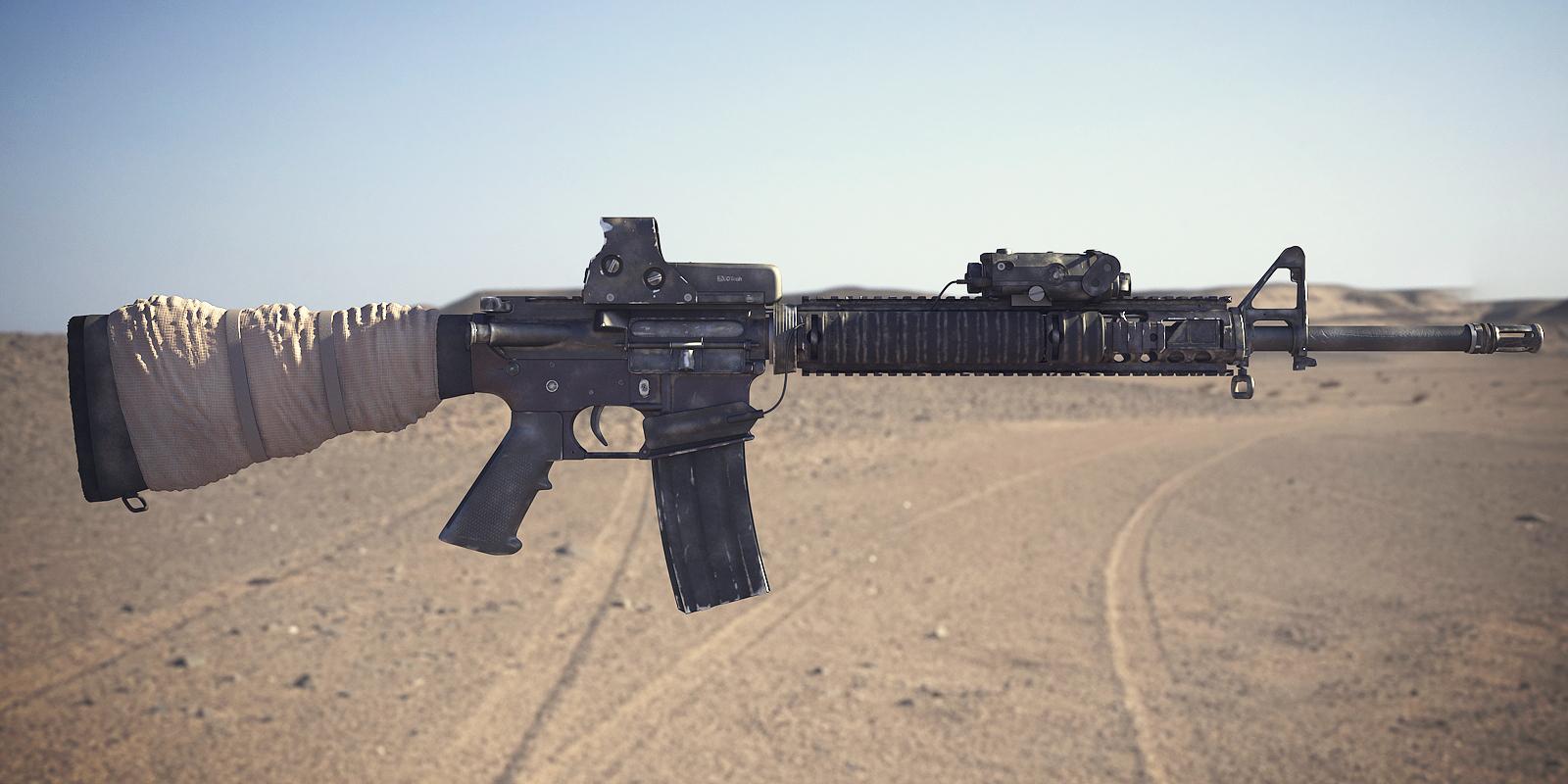 M16A4 Assault Rifle: Textured 4 by NordlingArt on DeviantArt
