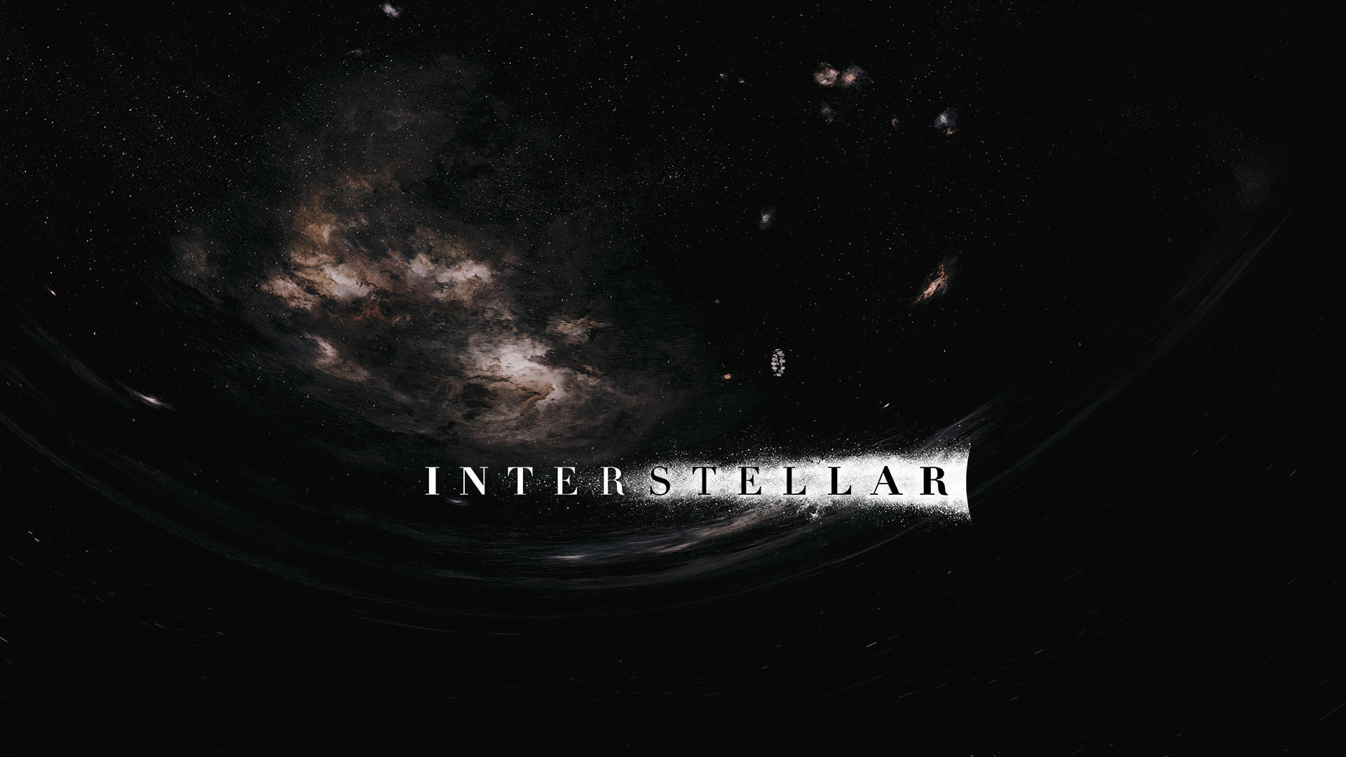 Interstellar Wormhole Wallpaper With Logo By Nordlingart