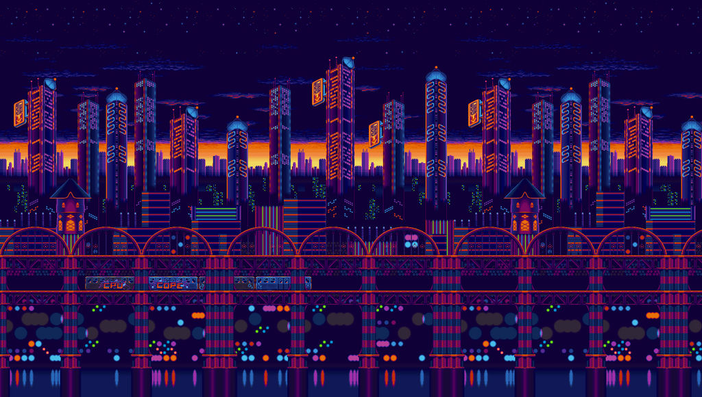 Sonic Mania Backgrounds Built-Studiopolis Act 1 by