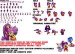 Sonic and Shirobon Sprites-Shantae Pirate Suit