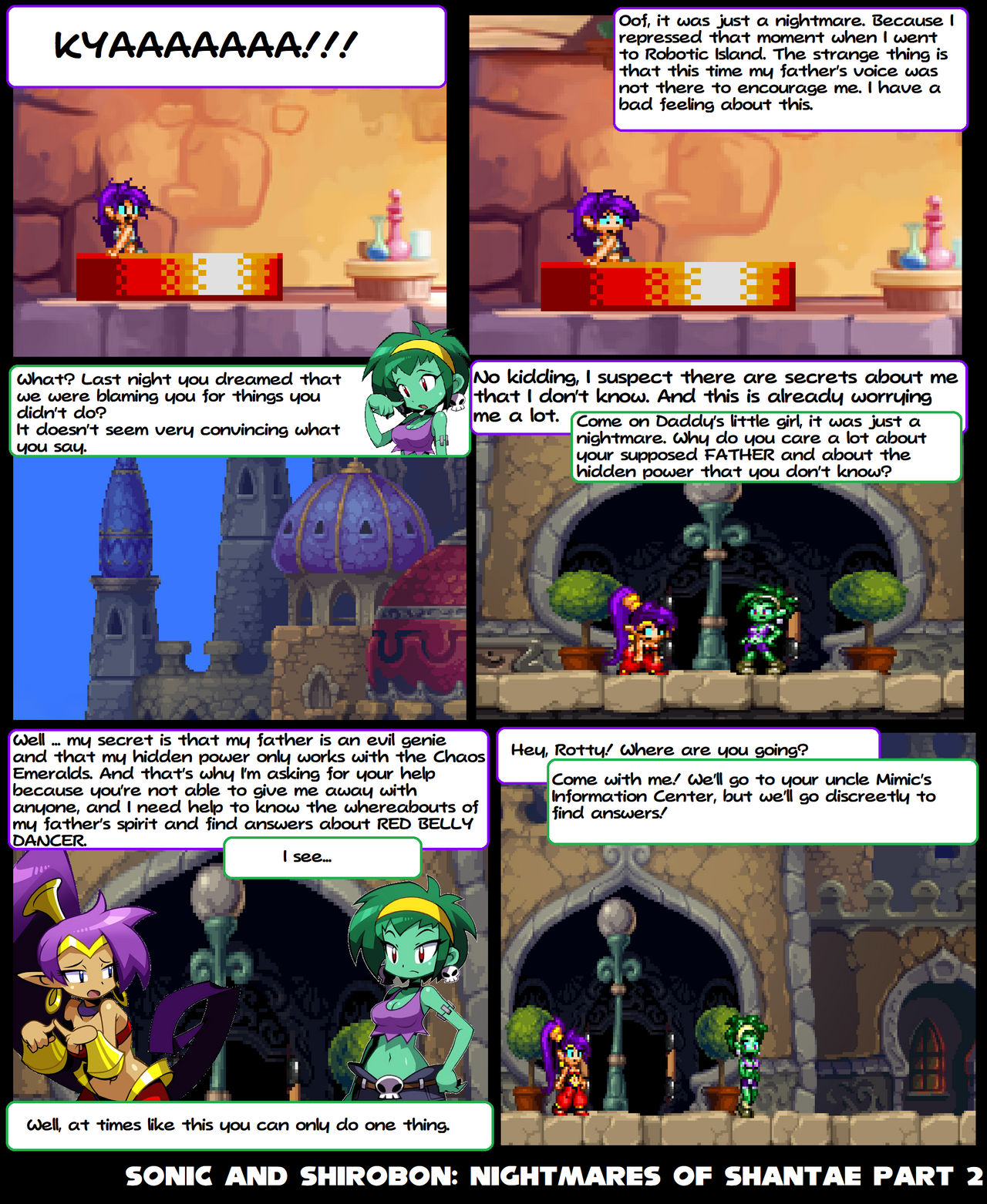 Sonic And Shirobon-Nightmares Of Shantae P2 By