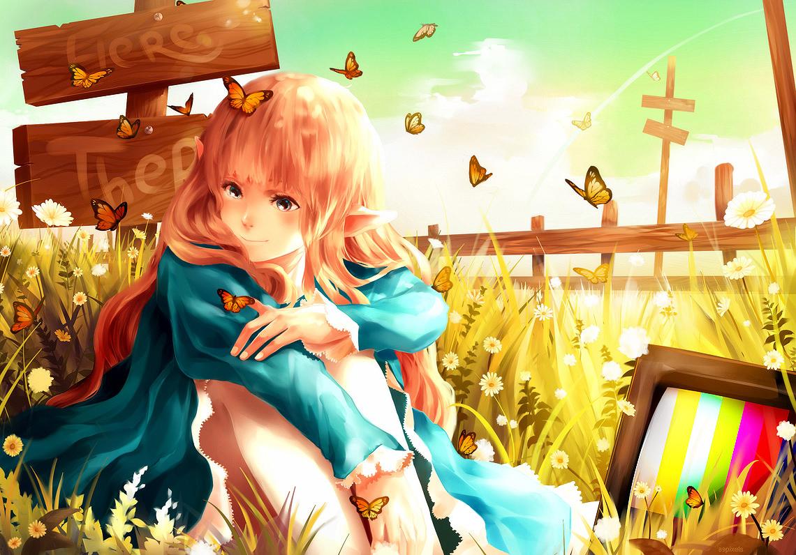 A Flock of Butterflies by 89pixels