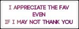 I Appreciate the Fav! [Stamp]