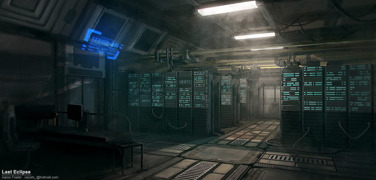 Server Room by Razorb