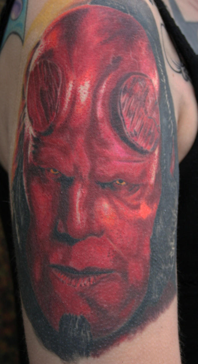 hellboy finished by tattooedone