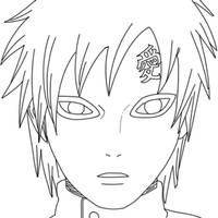 Gaara_lineart by CrypticRiddlers