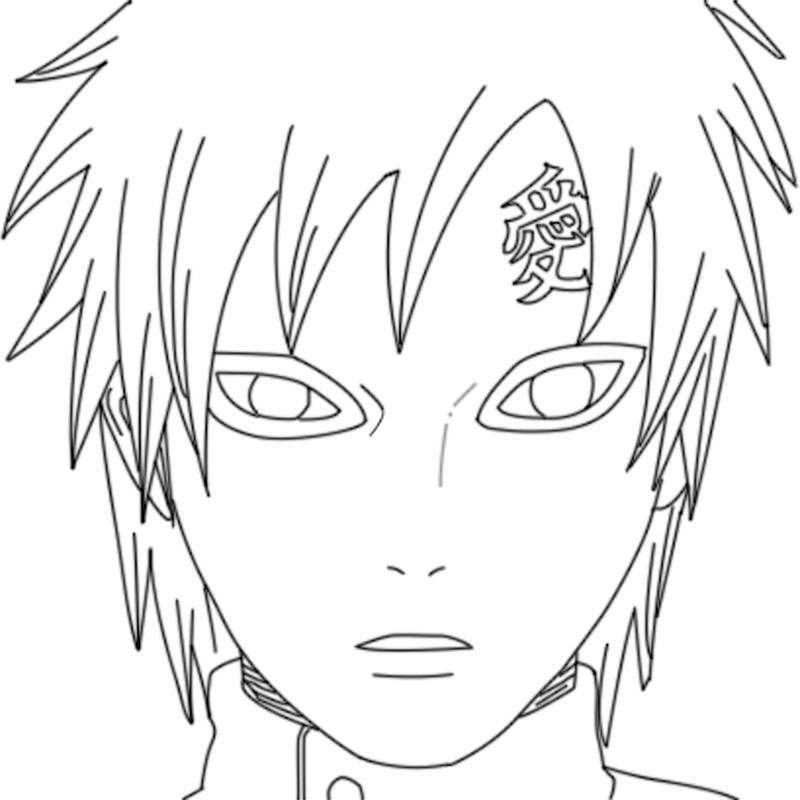 Gaara Coloring Pages Coloring Pages