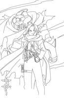 Full Metal Alchemist Lineart by CrypticRiddlers