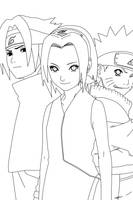 Sasuke Attacks Lineart by CrypticRiddlers