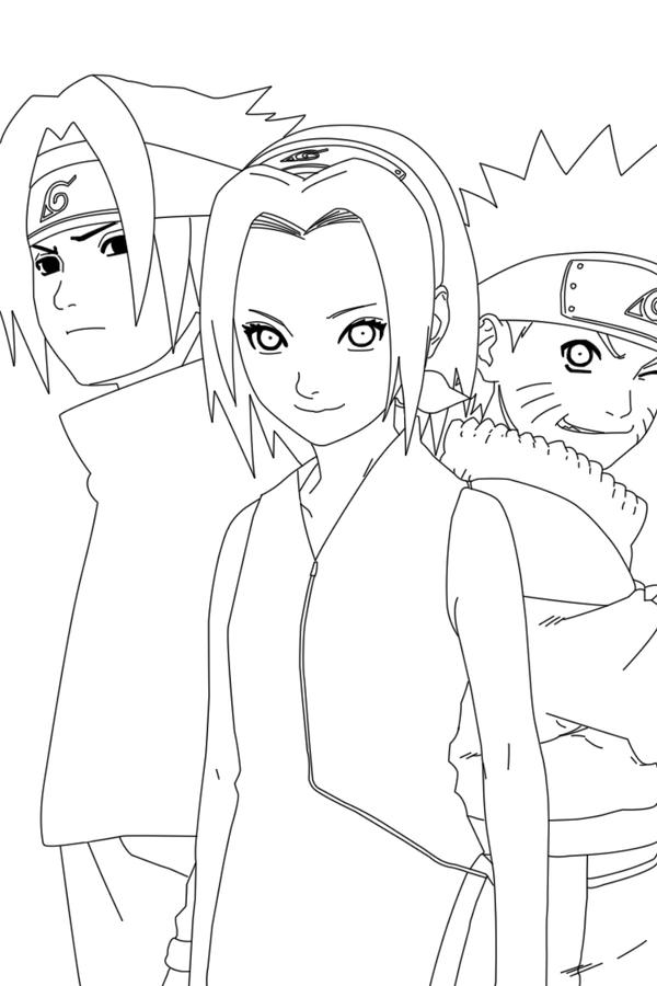 Drawings Team 7 Naruto Coloring Pages Sketch Coloring Page