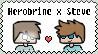 Herobrine x Steve stamp by LulaFrow