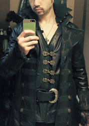 Killian Jones Captain Hook WIP coat by joshspiderman238