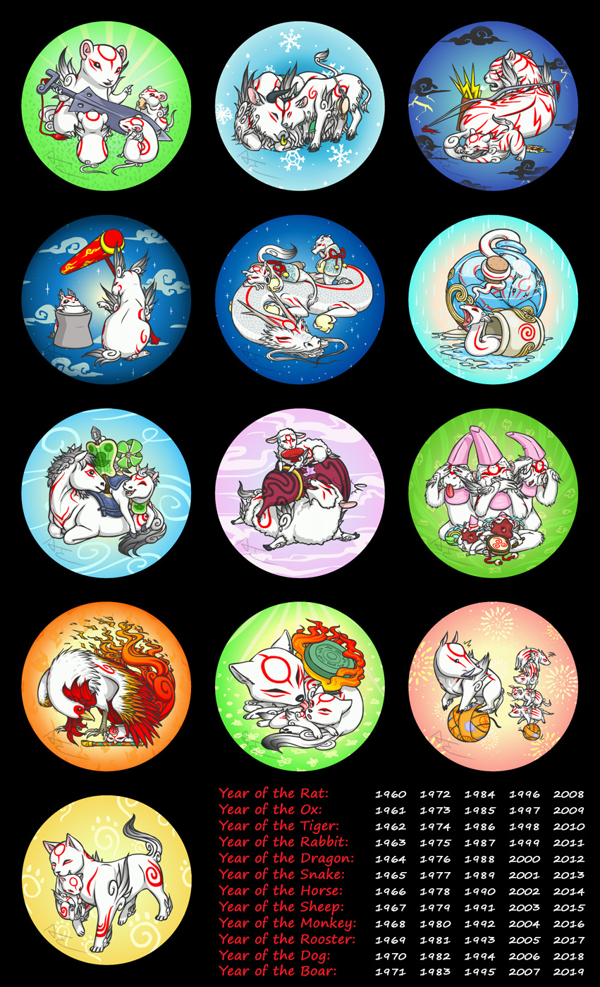 Okami Buttons by Birvan