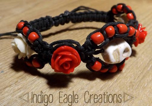 Day of the Dead Drawstring Bracelet