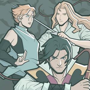 Trevor, Sypha,  Alucard