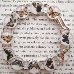 Magnifying Bubble Butterfly Bracelet