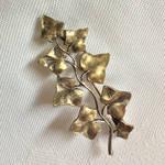 Vintage Art Nouveau-style Ivy Leaf Brooch