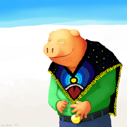 Satisfied Pig In Clothes