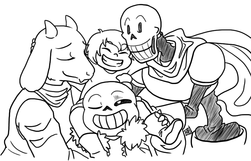Gallery Of Sans Undertale Coloring Page Free Undertale Coloring