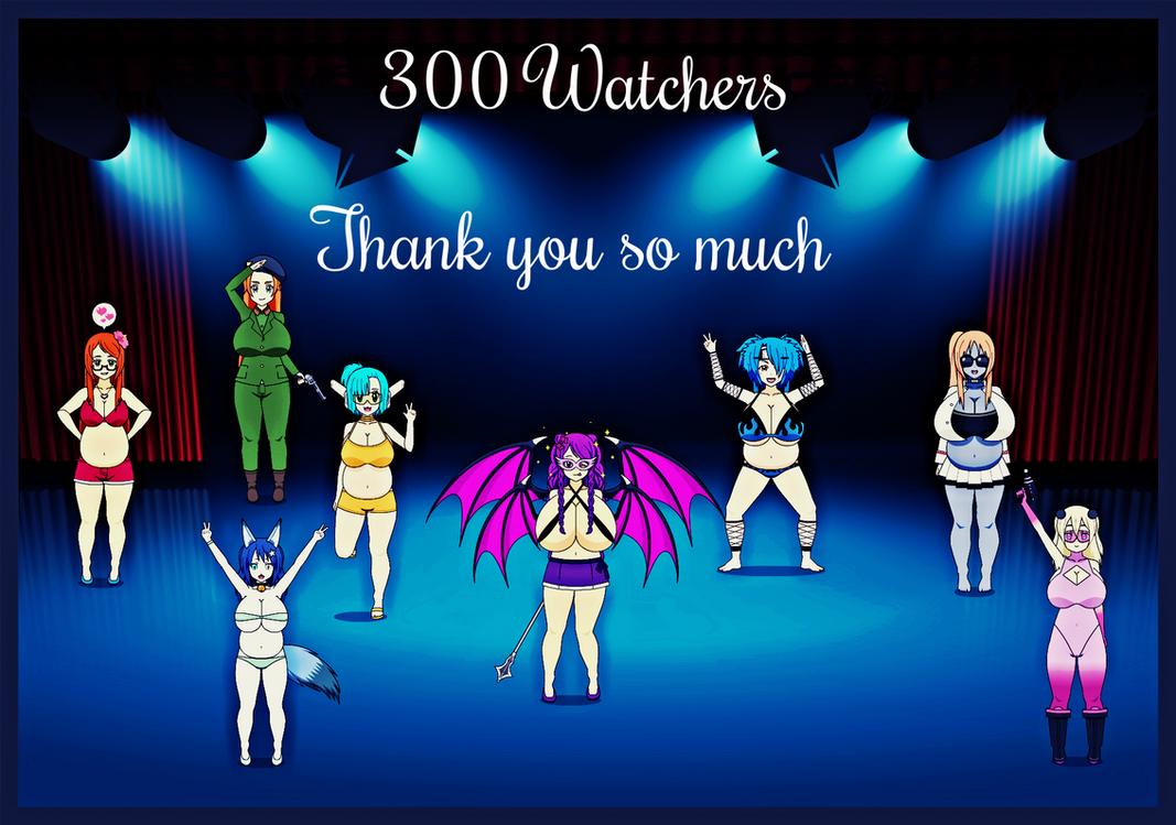 300 watchers by zombiespartan on deviantart