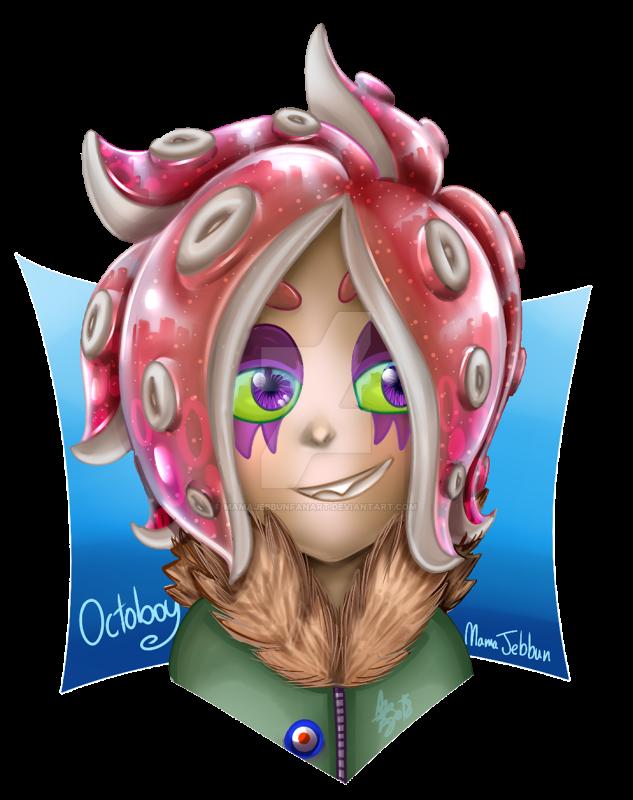 Splatuber - Octoboy by MamaJebbunFanart