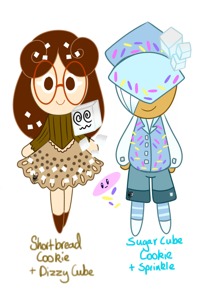 Shortbread Cookie and Sugar Cube Cookie by MamaJebbunFanart