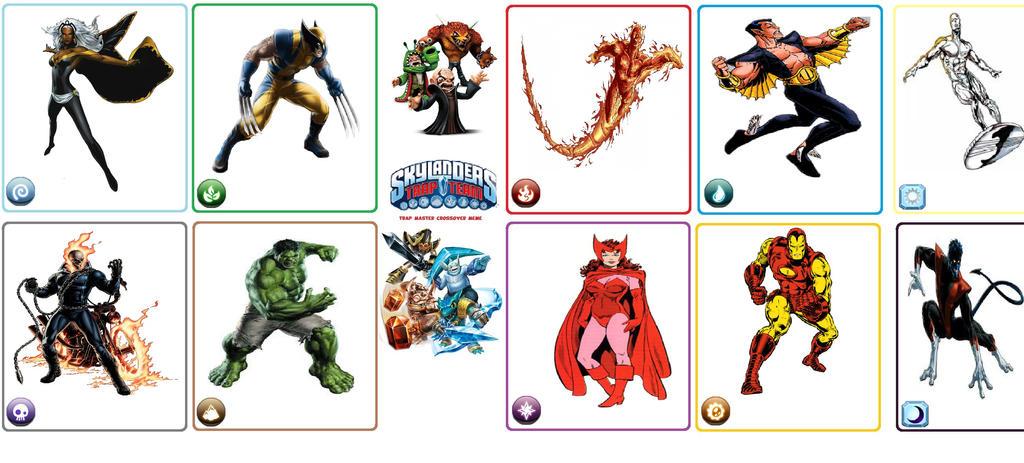 Marvel Skylanders by SuperMarioMaster170