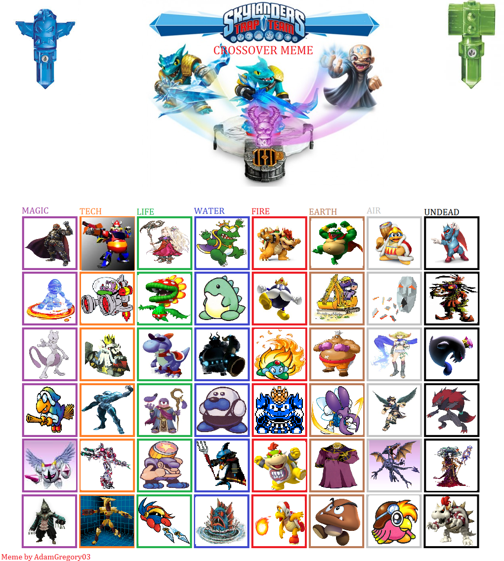 All Nintendo Trappable Villains By Supermariomaster170 On