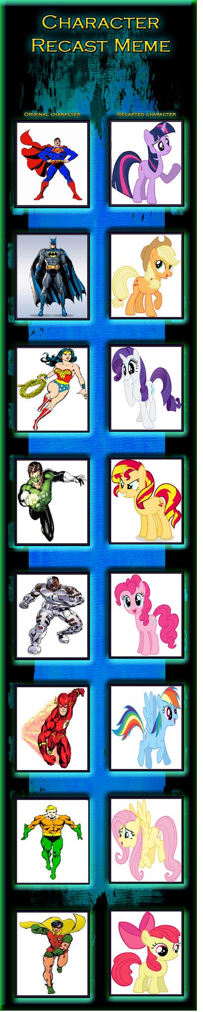 Justice League MLP Reacast by SuperMarioMaster170