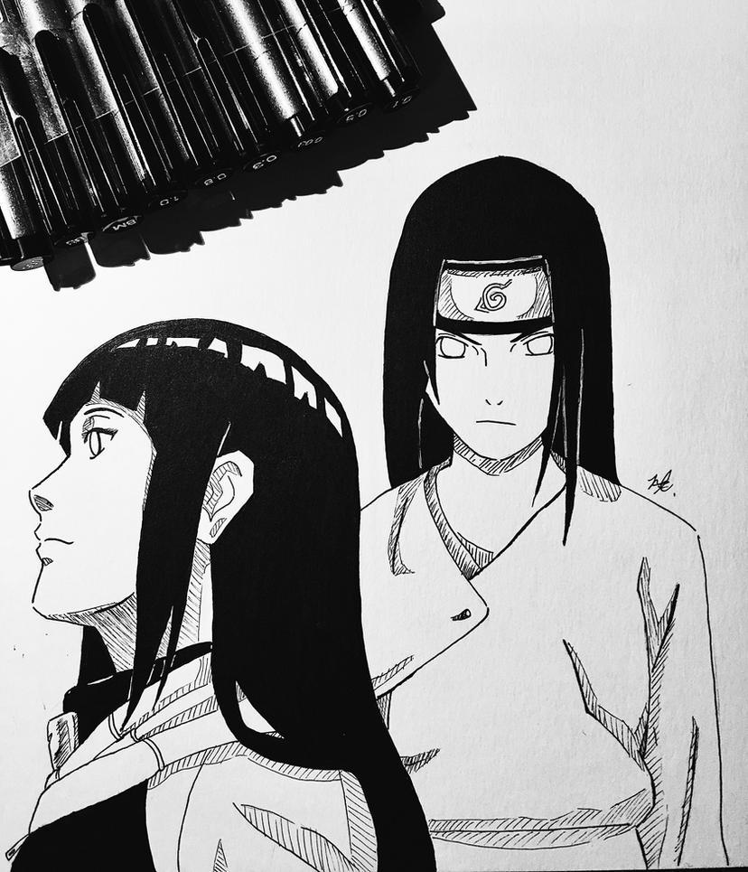 how to draw neji hyuga shippuden